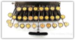 Blickensderfer Typewriter Keyboard