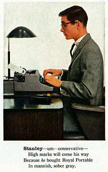 Royal Quiet de Luxe Portable Typewriter Ad