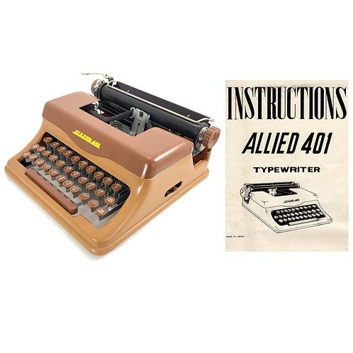 Allied 401 Typewriter Instruction Manual