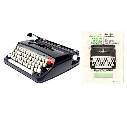 Remington 333 Typewriter Instruction Manual
