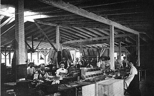 Postal Typewriter Factory Assembly Room