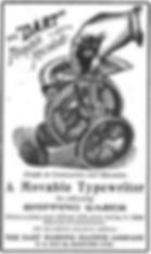 Dart Typewriter Ad 1904