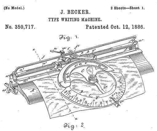 World Typewriter Patent