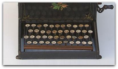 Sholes & Glidden Typewriter Keyboard