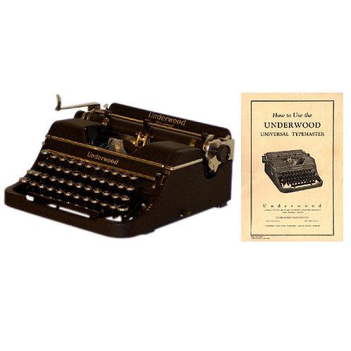 Underwood Universal Typewriter Instruction Manual