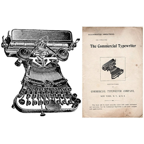Commercial Visible No.5 Typewriter Instruction Manual (PDF)