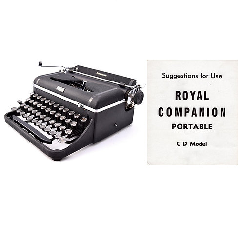 Royal Companion Typewriter Instruction Manual