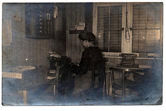 Pittsburg No.10 Typewriter Postcard