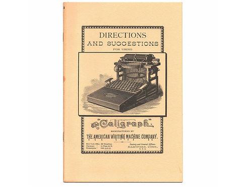 Post Era CALIGRAPH 2 TYPEWRITER Instruction Manual Antique