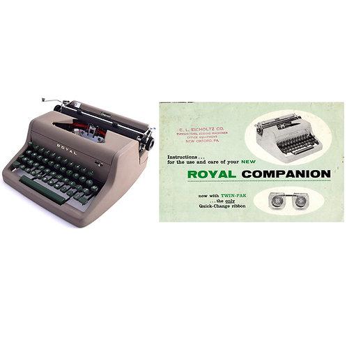Royal Companion Typewriter Instruction Manual