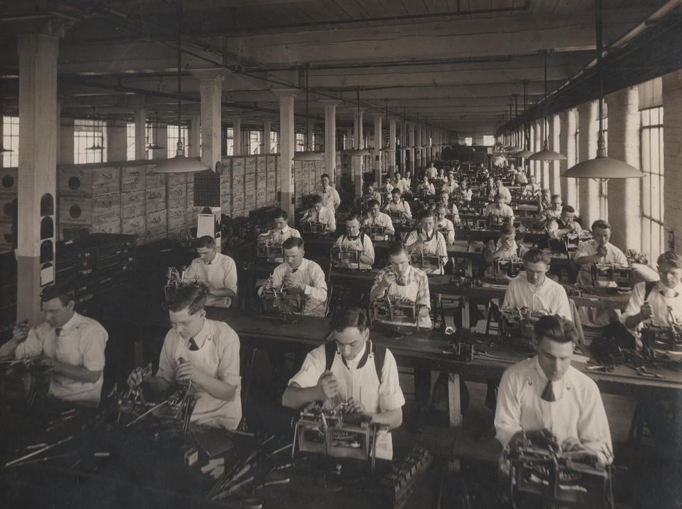 Remington Typewriter Assembly Room