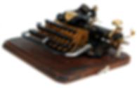 Gold Blickensderfer No.7 Typewriter