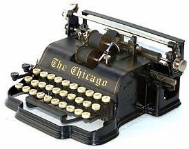 The Chicago Model 1 Pinstripes Typewriter