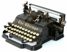 The Chicago Model 1 Pinstripes Typewriter