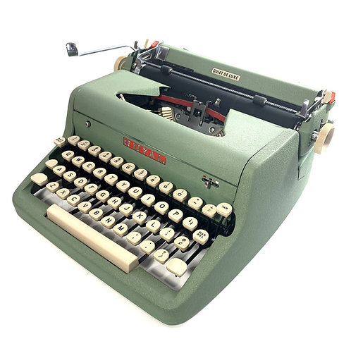 Restored Green Royal Quiet de Luxe Portable Typewriter