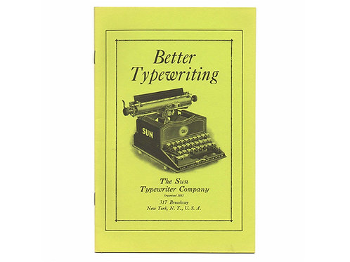 Post Era SUN TYPEWRITER Trade Catalog Antique Active