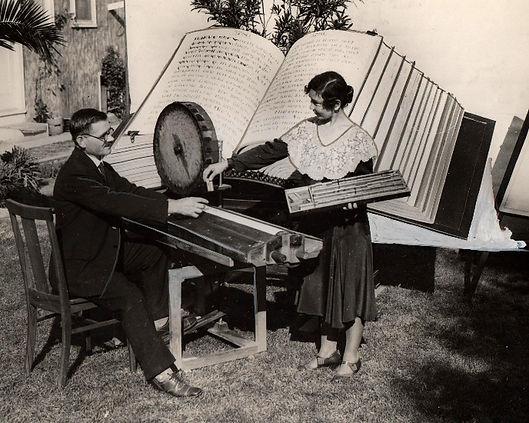 Louis Waynai with Typewriter