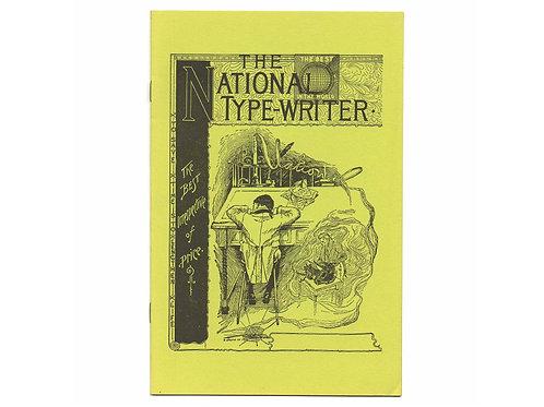 Post Era CURVED NATIONAL TYPEWRITER Trade Catalog Antique