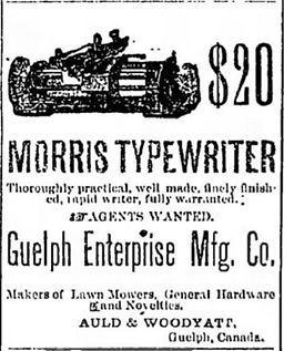 The Morris Typewriter Ad