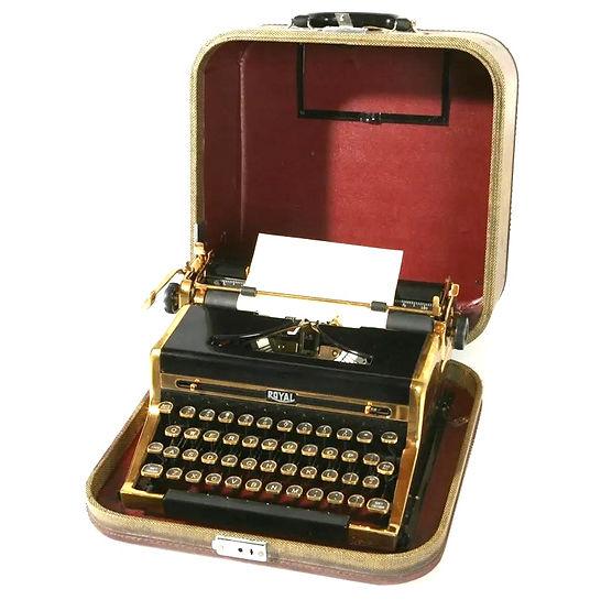 Gold Royal Quiet de Luxe Typewriter
