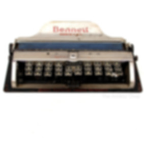 Bennett Portable Manual Typewriter and C