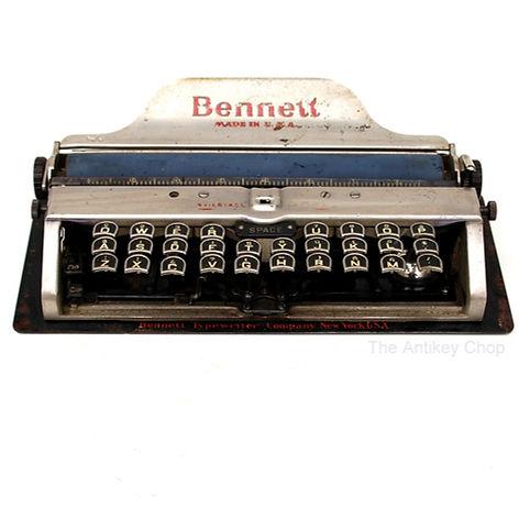 Bennett Portable Manual Typewriter and C