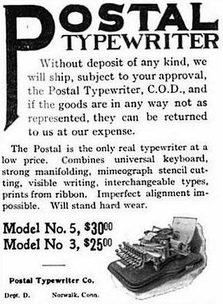 Postal Typewriter Ad