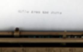 Burns Typewriter Type Sample