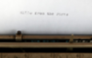 Burns Typewriter Type Sample