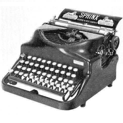Sphinx Typewriter