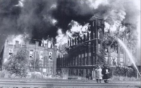 Royal Typewriter Factory Fire 1992