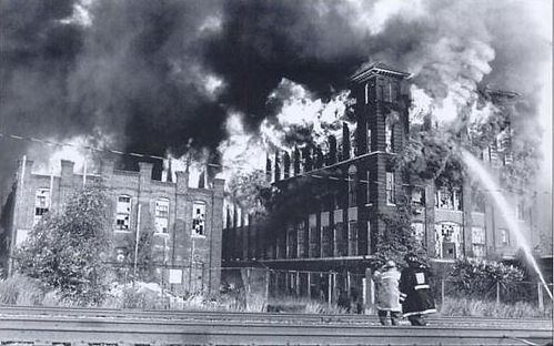 Royal Typewriter Factory Fire on July 12, 1992