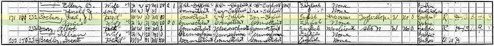 Fred J. Cocker 1910 Census