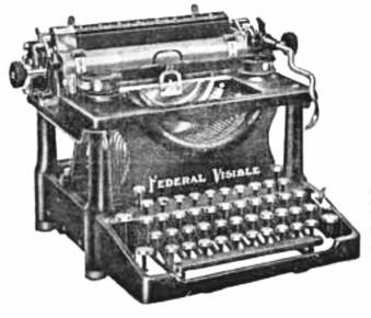 Federal Visible Typewriter
