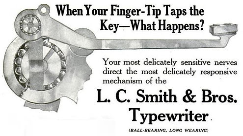 LC Smith Ball Bearing Ad