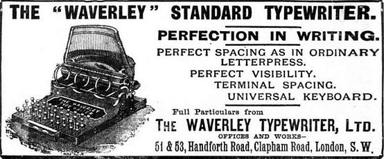 Waverley Typewriter Ad