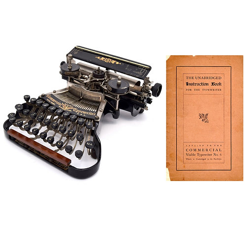 Commercial Visible No.6 Typewriter Instruction Manual (PDF)