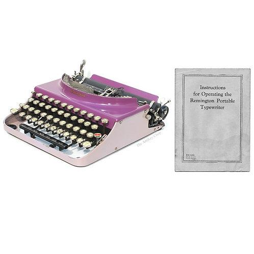 Remington No.3 Portable Typewriter Instruction Manual