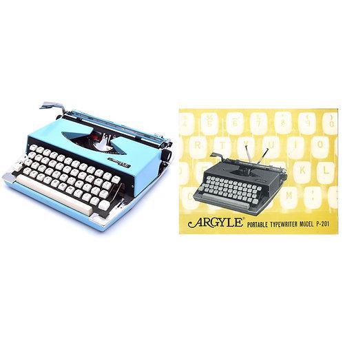 Argyle P201 Typewriter Instruction Manual