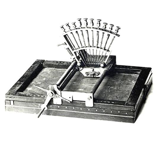 La Raphigraphe Braille Typewriter