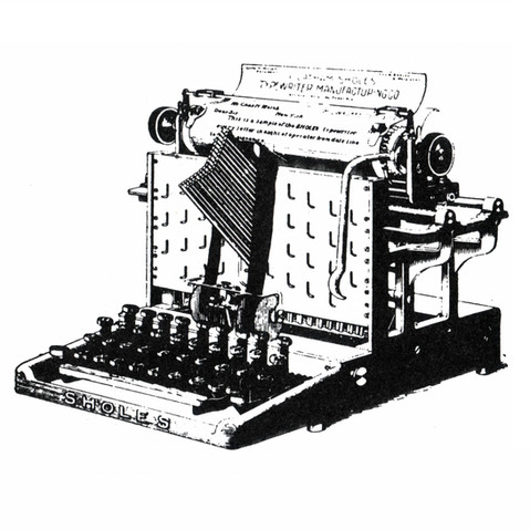 Sholes Typewriter (1st Visible Model)