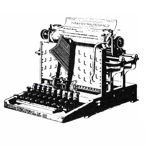 Sholes Typewriter (1st Visibe Model)