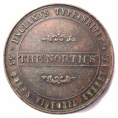 North's Typewriter Advertising Coin