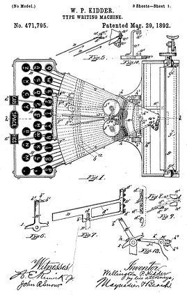 Wellington Typewriter Patent