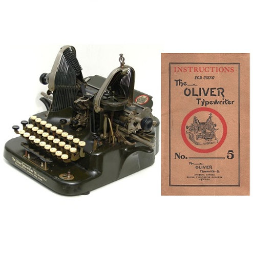 Oliver No.5 Typewriter Instruction Manual