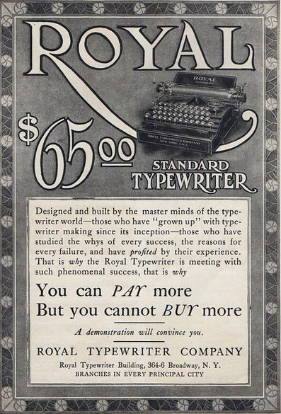 Royal Standard Typewriter Ad