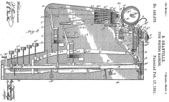 The Granvelle Automaic Typewriter Patent
