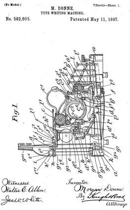 North's Typewriter Patent