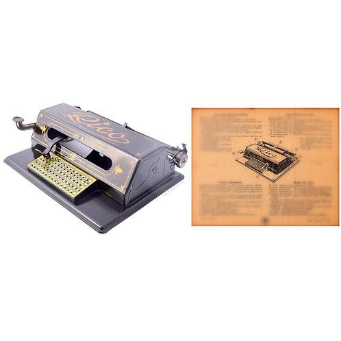 Rico No.A1 Typewriter Instruction Manual