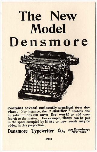 Densmore No.5 Typewriter